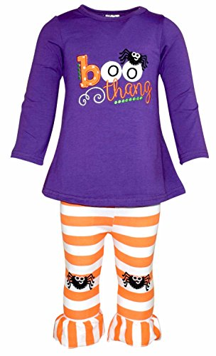 Unique Baby Girls Boo Thang Halloween Outfit with Spider Leggings