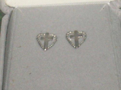 UPC 652256361208, Heart Cross Earring