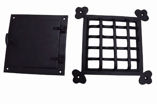 A29 Speakeasy Door Grill with Viewing Door, Black Powder ...