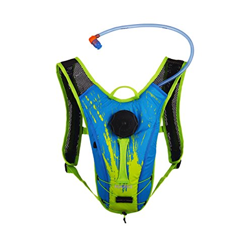 - Source Outdoor Spinner NC 1.5L Hydration Pack, Youth, Blue/Green