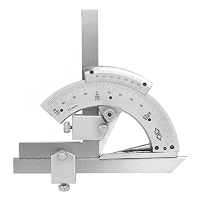 Agile-Shop 0-320° Universal Stainless Steel Vernier Bevel Protractor, Precision Angle Measuring Finder Ruler Tool