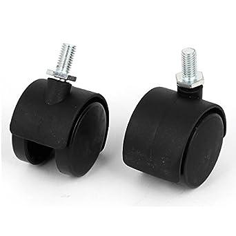 eDealMax 8mm roscada del vástago 1,5 pulgadas de diámetro Para sillas de ruedas giratoria