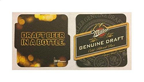 - Miller Genuine Draft MGD Draft Beer In a Bottle 20 Beer Bar Pub Coasters New