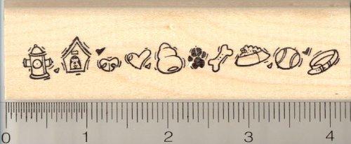 Dog Themed Border Rubber Stamp