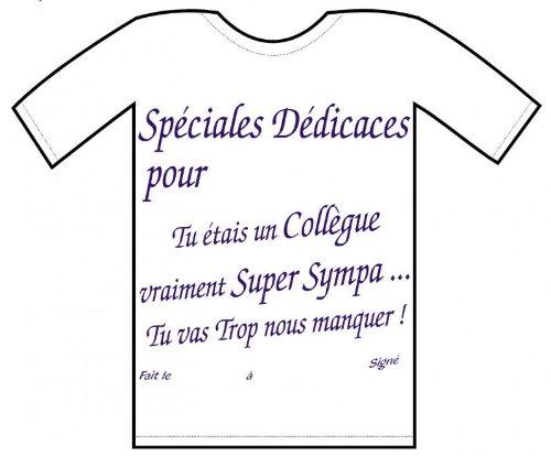 Deguisement Discount Tee Shirt Depart D Un Collegue Amazon Fr