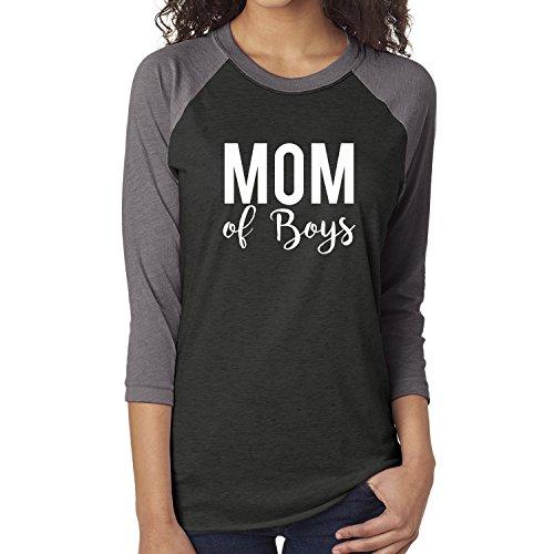 Mom of Boys Unisex 3/4 Sleeve Baseball Raglan Tee