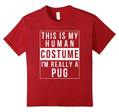 Kids Pug Halloween Costume Shirt Funny Easy for Kids Men Women 12 (Funny College Halloween Costumes Ideas Men)
