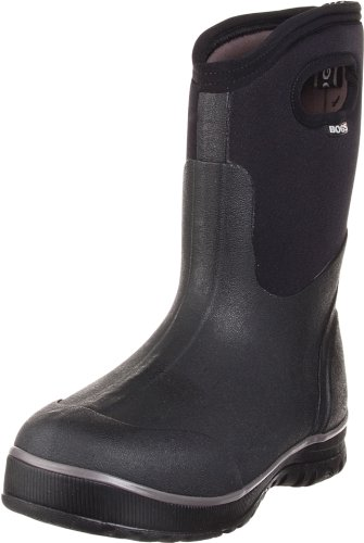 Bogs Men's Classic Ultra Mid Waterproof Insulated Rain Boot, Black, 5 D(M) US