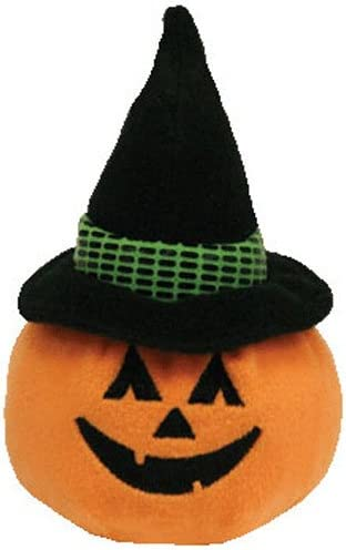 Ty Inc WITCHKIN the Pumpkin Witch TY Halloweenie Beanie Baby 3.5 inch 6420507