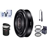 Sony 20mm F2.8 Alpha E-mount NEX Camera Lens Bundle. Value Kit with Acc
