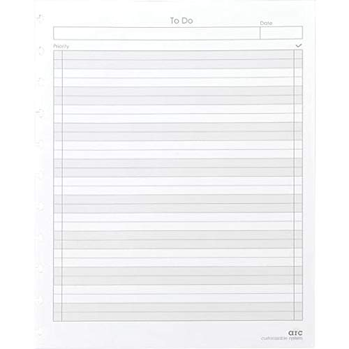 Staples Arc System To-Do Refill Paper, White, 8-1/2'' x 11'', 50 narrow-ruled Sheets, Each (19995)