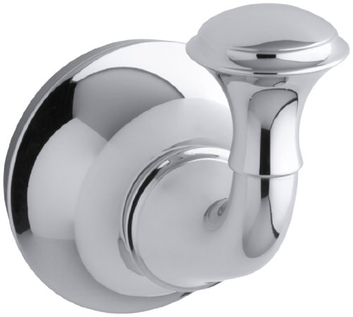 Polished Chrome Traditional Wall (KOHLER K-11275-CP Forte Traditional Robe Hook, Polished Chrome)