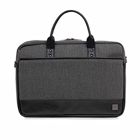 One Size Grey Knomo Luggage Mens Princeton Briefcase