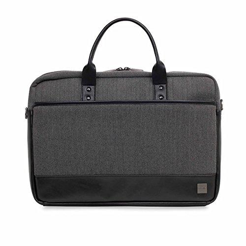 Knomo Laptop Bags (Knomo Luggage Men's Princeton Briefcase, Grey, One Size)
