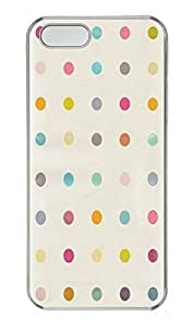 iPhone 5 5S Case Simple Flat Dots Pattern PC Custom iPhone 5 5S Case Cover Transparent