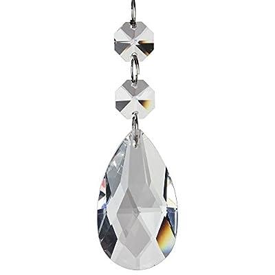 "Generic Teardrop Chandelier Crystal Pendants Glass Pendants Beads(Classic,""Angel Tears"" Series), Pack of 10"