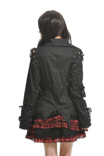 Blooms - Fashion Women Lolita Gothic Visual Punk Shirt Size M L 71233B (Large)