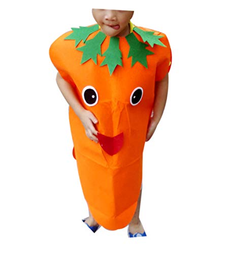 zhxinashu Kid Lightweight Halloween Costumes Child Role Play Outfits (Carrot) ()