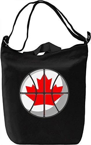 Canada Basketball Borsa Giornaliera Canvas Canvas Day Bag| 100% Premium Cotton Canvas| DTG Printing|