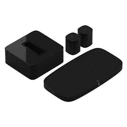 Sonos 5.1 Surround Set - Home Theater System with Playbase, Sub and 2 Sonos Ones for TVs on stands and furniture (Black)