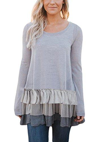 Sidefeel Women Ruffle Pullover Blouse