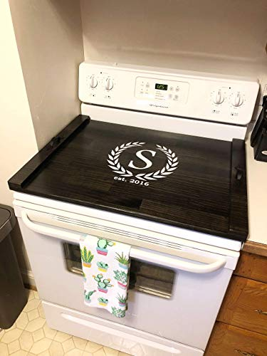Rustic Stove Top Cover, Wooden Tray For Stove, Monogram Stove Cover, Stove Tray, Decorative Tray by The Appalachian Artisans (Image #3)