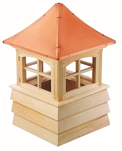 112'' Handcrafted ''Guilford'' Copper Roof Wooden Cupola by CC Home Furnishings