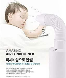 Amazing Air Conditioner Friendly, Portable, Weak Wind for Baby (Wind by Ice)