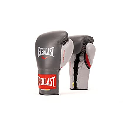Image of Boxing Gloves Everlast PowerLock Pro Fight Gloves 10Ozlxl Grey PowerLock Pro Fight Gloves