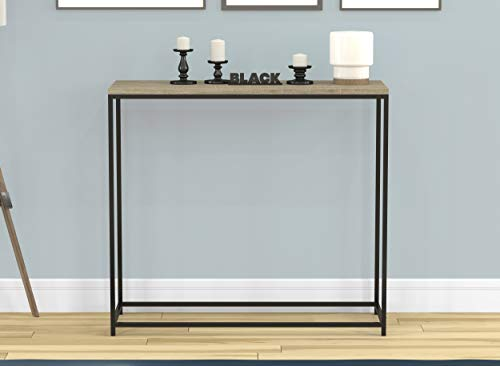 Safdie Console Table-Dark Taupe Black Metal,