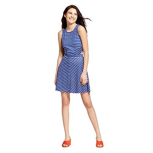Xhilaration Women's Striped Sleeveless Cut Out Dress - Variety - (Cobalt/Blue, ()