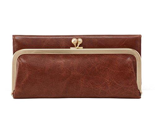 [Hobo International Womens Rachel Vintage Wallet Leather Clutch Purse (Cafe)] (Hobo Purses)