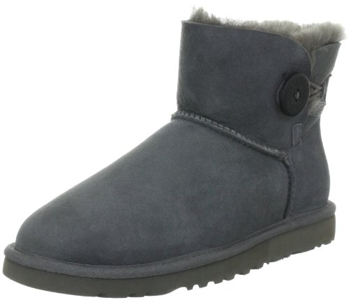 Ugg Mini Bailey Button 3352 Slip Antiscivolo Donna Grigio (grigio)