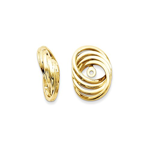 Roy Rose Jewelry 14K Yellow Gold Polished Love Knot Earring Jackets 14mm length by Roy Rose Jewelry (Image #3)'