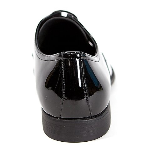 Smokies - Zapatos de cordones de material sintético para hombre negro Schwarz Lack, color negro, talla 42