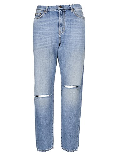 Femme Saint Laurent Coton Claire 500389Y868M4061 Jeans Bleu q5R0ROHBw