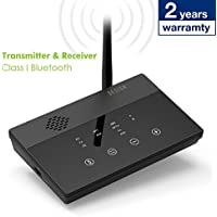 Besign Long Range BE-RTX Bluetooth Transmitter and Receiver, Digital Optical TOSLINK and 3.5mm Wireless Audio Adapter for TV/Home Stereo System - Aptx, Aptx Low Latency [2-Year Warranty]