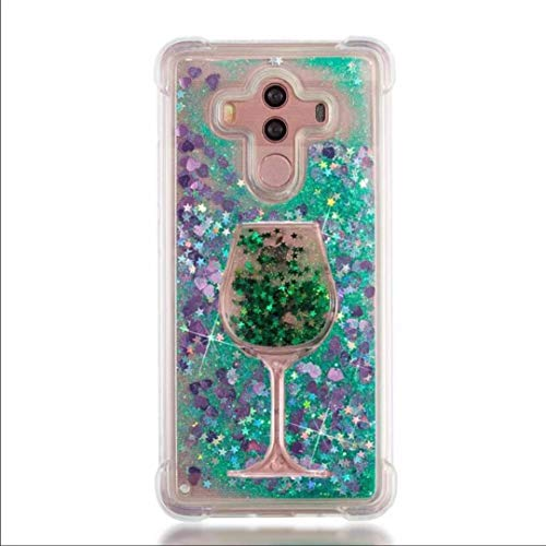 iPod Touch 7/ Touch 6/ Touch 5 Case, Air Cushion Design 3D Goblet Wineglass Liquid Quicksand Bling Floating Moving Shine Glitter Clear TPU Silicone + PC Case for iPod Touch 7th (XGreen Green)