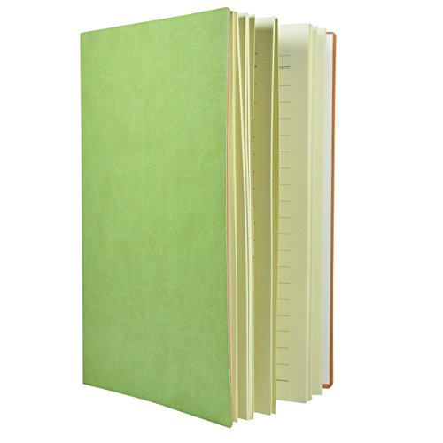 - Littfun A5 Note Book Leather Journal 7 Color Optional (Grass Green)