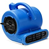 B-Air VENT VP-25 1/4 HP 900 CFM Compact Air Mover Carpet Dryer Floor Fan for Home Retail Plumbing Water Damage Restoration Blue