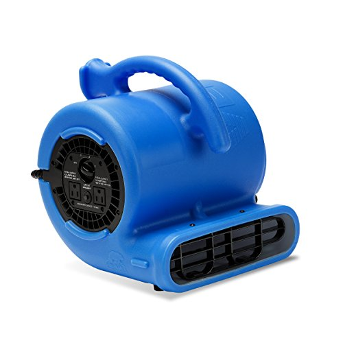 B-Air VP-25 1/4 HP 900 CFM Air Mover for Water Damage Restoration Equipment Carpet Dryer Floor Blower Fan Home and Plumbing Use, Blue ()