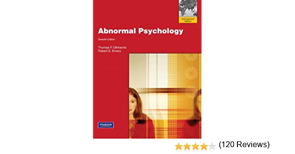 Abnormal Psychology: Thomas F  Oltmanns: 9780205216222