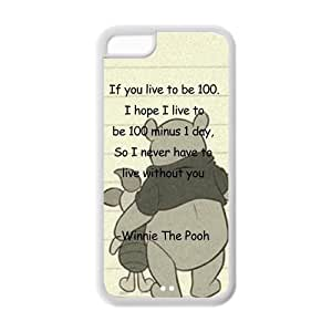 Hard Rubber Special Design iPhone 5c Cover Winnie the Pooh Case for iPhone 5c
