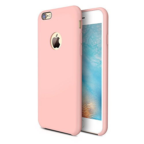 iPhone 6s Case, TORRAS [Love Series] Liquid Silicone Rubber iPhone 6 6S Shockproof Case with Soft Microfiber Cloth Cushion (4.7 (Pink Phone Case)