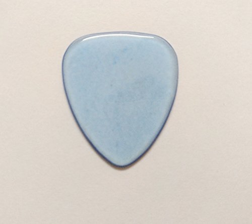 Realgem-Medium Gauge,Teardrop Style Sharp Tip,Hard Luxury Guitar Pick Made of Genuine Gemstone,Crystal,agate Guitar pick,(one pack) (Synthetize blue cat's eye)