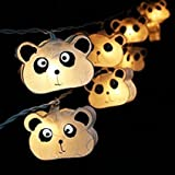 20 White Panda String Fairy Light Home Party Decor Kid Children Room Fancy andbeautiful.