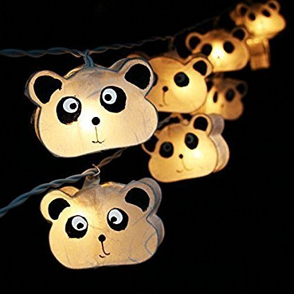 20 White Panda String Fairy Light Home Party Decor Kid Children Room Fancy andbeautiful. by Indy Thai Shop