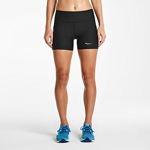 Womens Short Performance Saucony (Saucony Women's Bullet Tight Shorts, Black, Large)