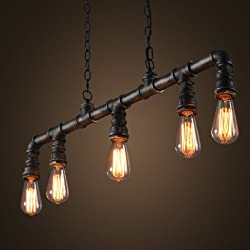 LightInTheBox Industrial VIntage Style LOFT Water Pipe Chandeliers Retro Classic Edison Personalized Fixture Lighting