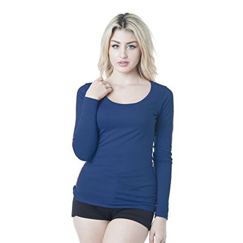 9ad38e014a Hollywood Star Fashion Long Sleeve Crew Neck Plain Top  5WarK0503006 ...